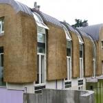 Nieuw rieten dak - modern - gevelbekleding - Laren achterkant