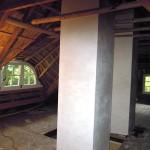Rieten dak - Boerderij Putten binnenzijde