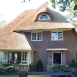 Rieten dak - Villa Leersum