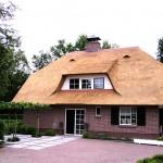 Rieten dak - Woonhuis Ermelo voorkant