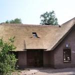 Rieten dak - timmerwerk - Woonhuis Putten voorzijde