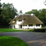 Rieten dak - villa Leersum voorzijde