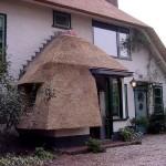Rieten dak - villa Soest afdakje