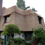 Rieten dak - villa Soest zijkant